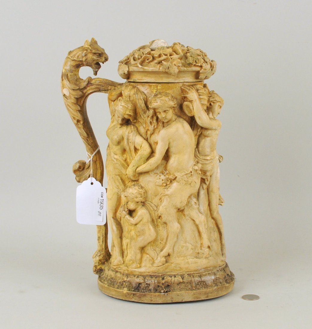 Elaborate Baroque Style Model for Carved Tankard