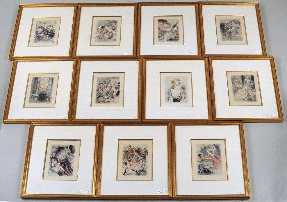 Series of Eleven Erotic Prints