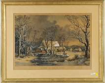Currier  Ives Winter In The Country
