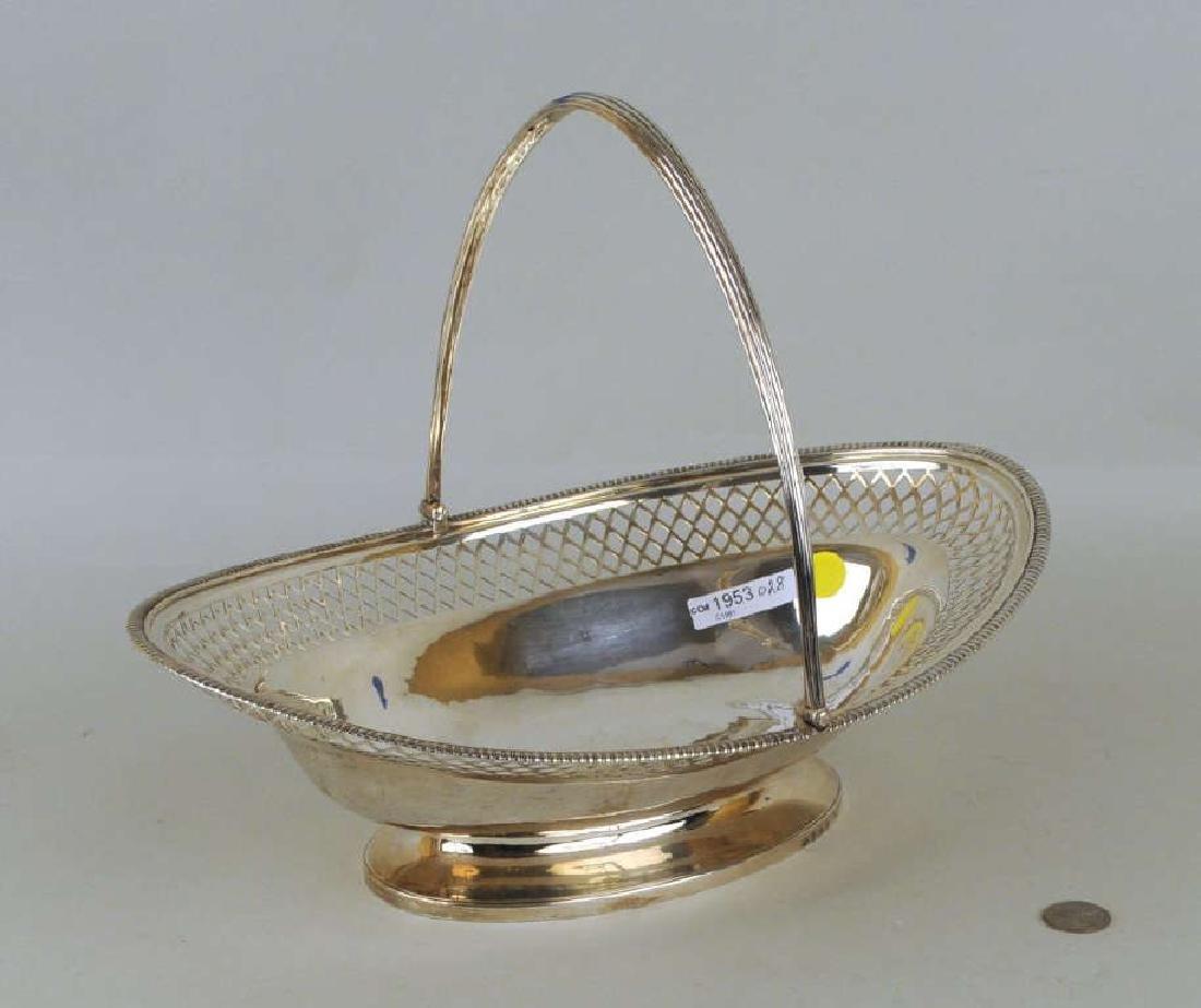 Paul Storr English Sterling Silver Bread Basket