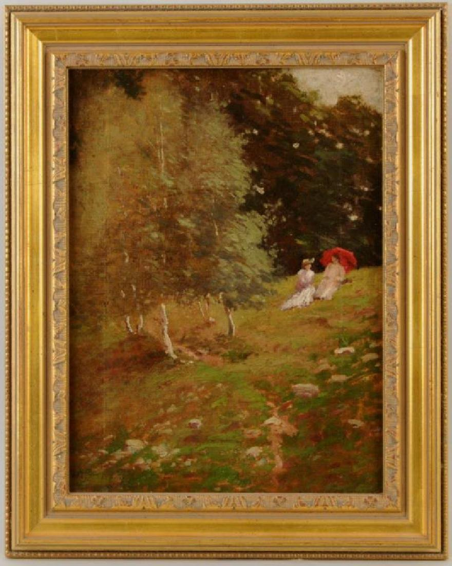 """Henry Rankin Poore """"Ladies And Birches"""" O/C"""