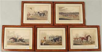 Five English Hand Colored Equestrian Prints