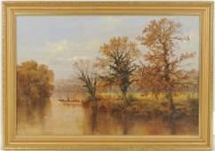"""Arthur Bevan Collier """"River Landscape"""" O/C"""