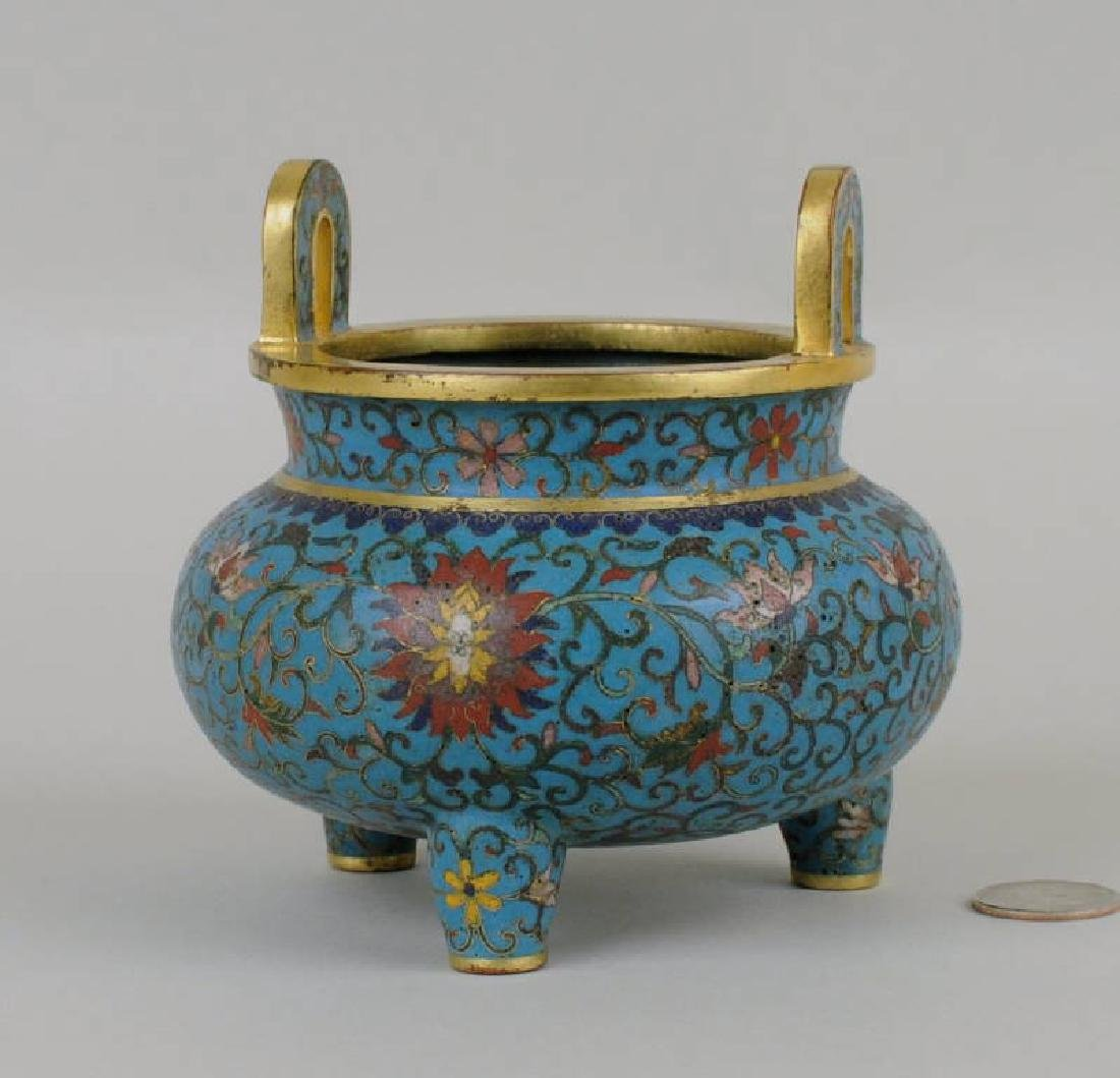 Chinese Cloisonne Footed Censer