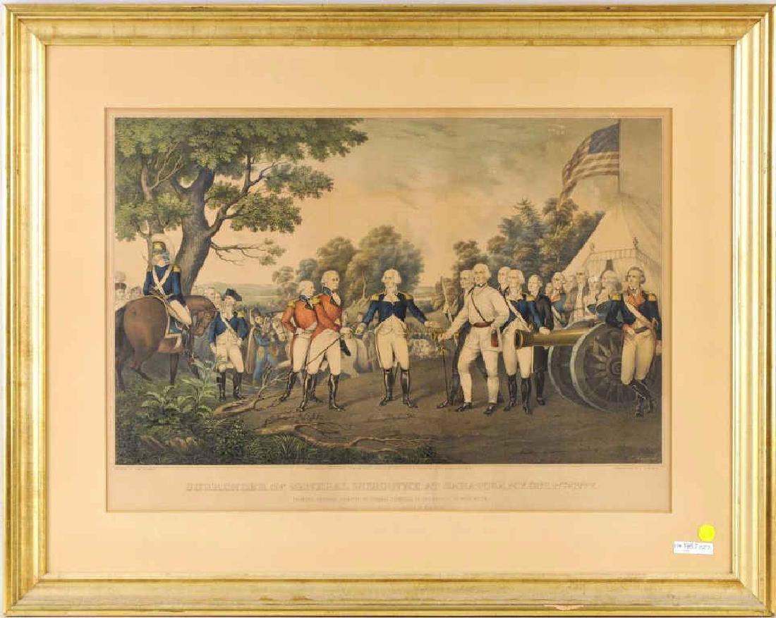 """Nathaniel Currier """"Surrender Of General Burgoyne"""""""