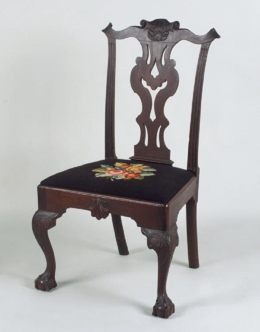 Gen. Anthony Wayne Carved Mahogany Side Chair