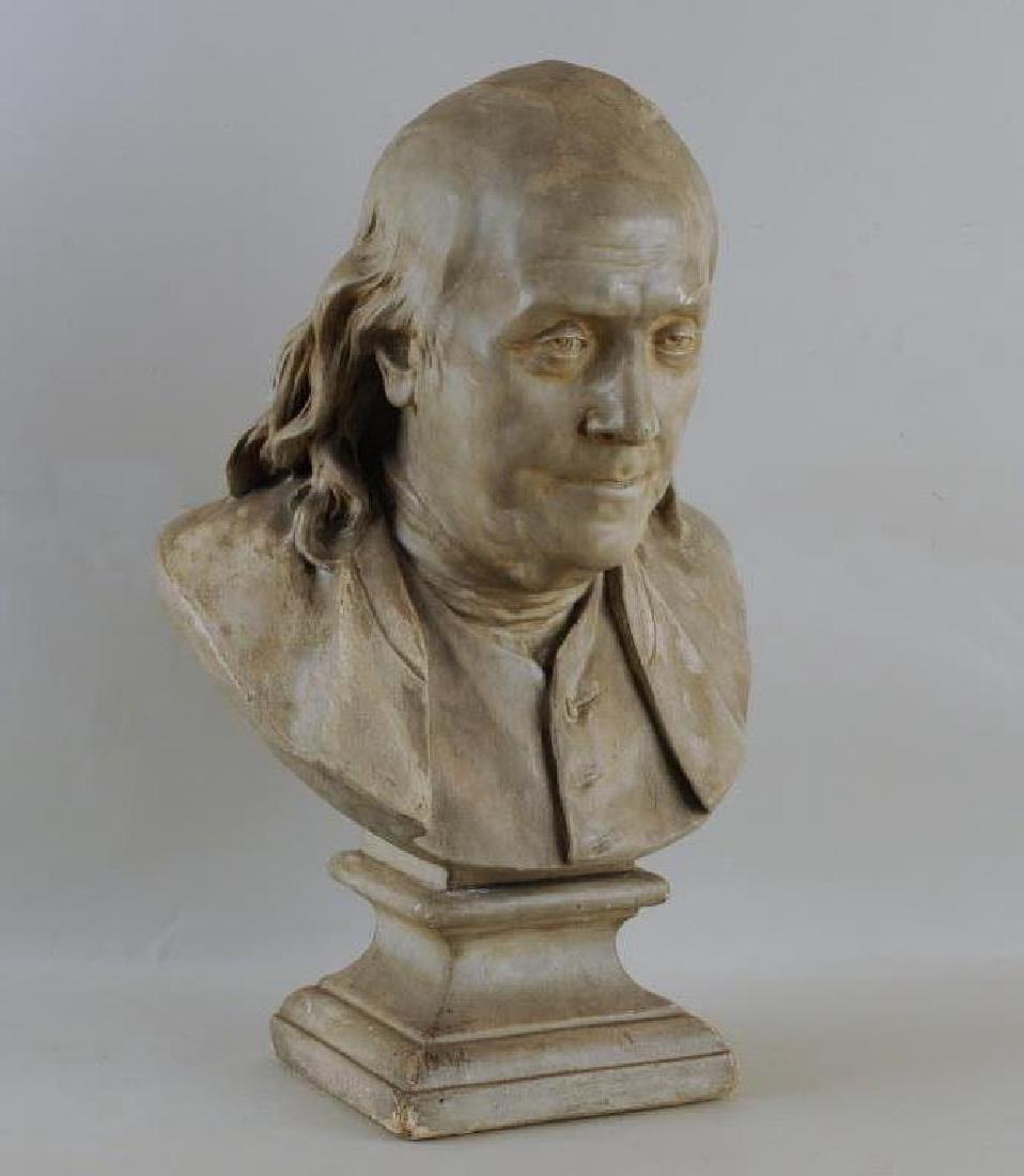 Plaster Portrait Bust Of Benjamin Franklin