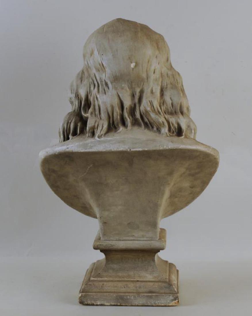 Plaster Portrait Bust Of Benjamin Franklin - 2