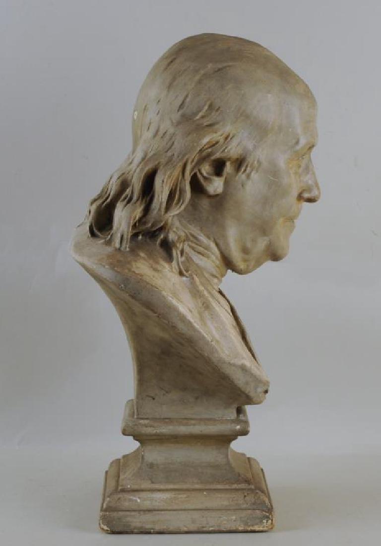 Plaster Portrait Bust Of Benjamin Franklin - 3