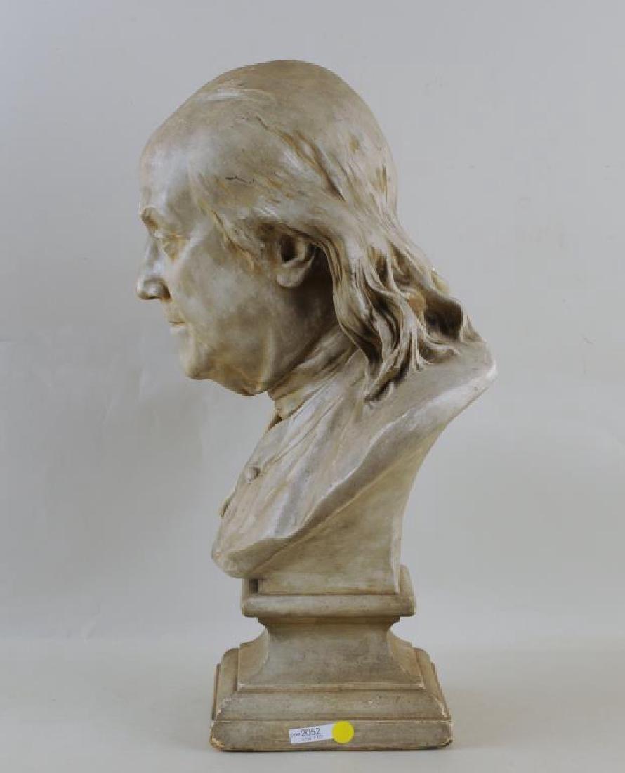Plaster Portrait Bust Of Benjamin Franklin - 4