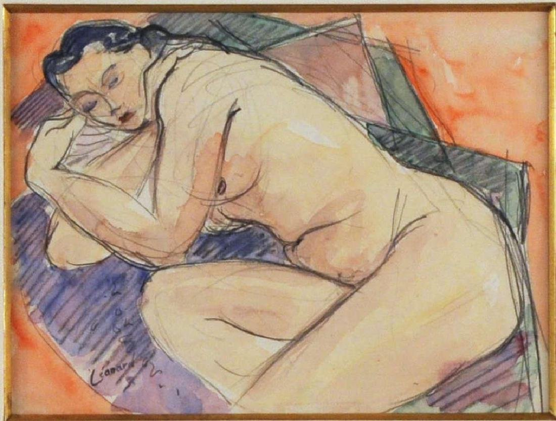 "Maurice Leonard, ""Jeune Femme Endormie"" - 3"