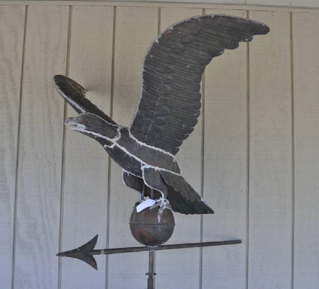 Copper Full Bodied Eagle Weathervane