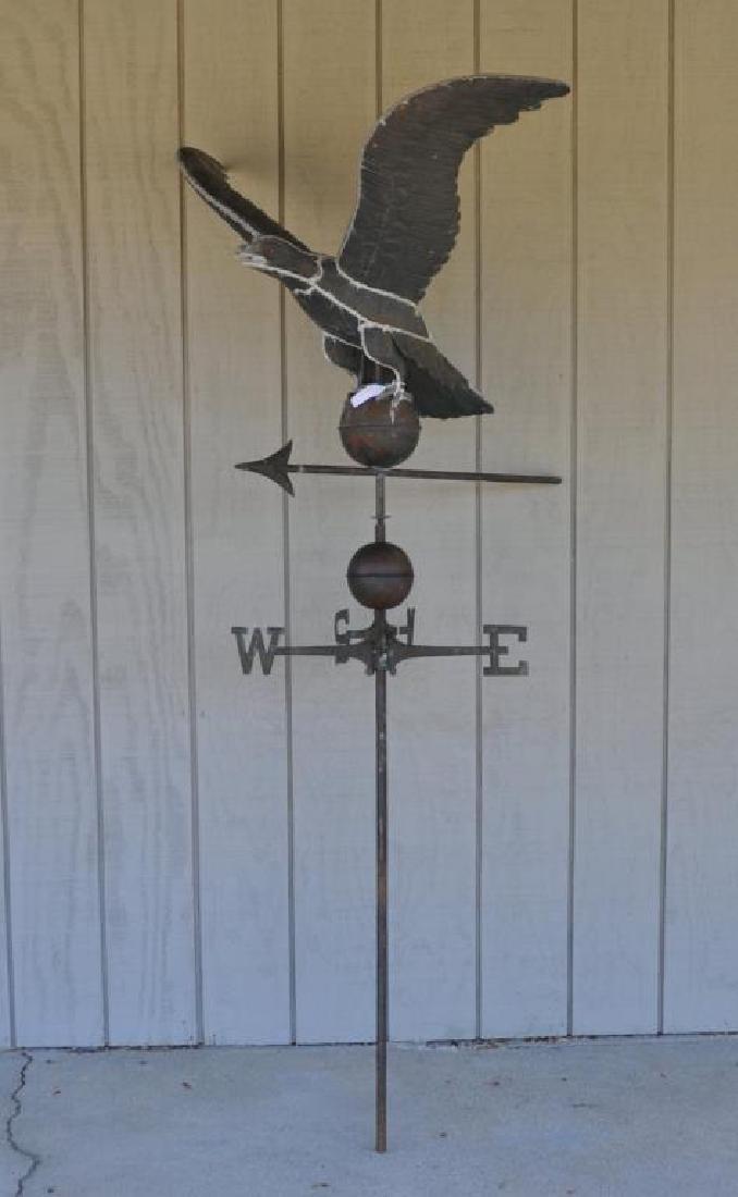 Copper Full Bodied Eagle Weathervane - 2