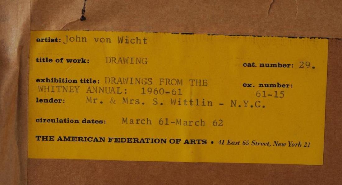 """John G.F. Von Wicht, """"Drawing"""" M/M/P - 6"""