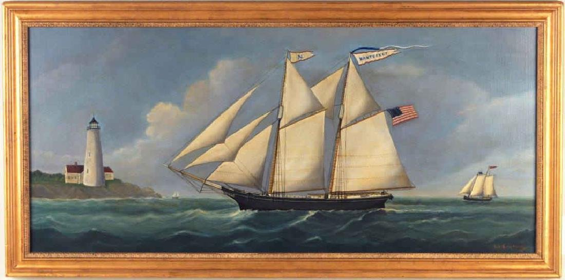 "Reginald E. Nickerson, ""Nantucket"" Nautical Scene"
