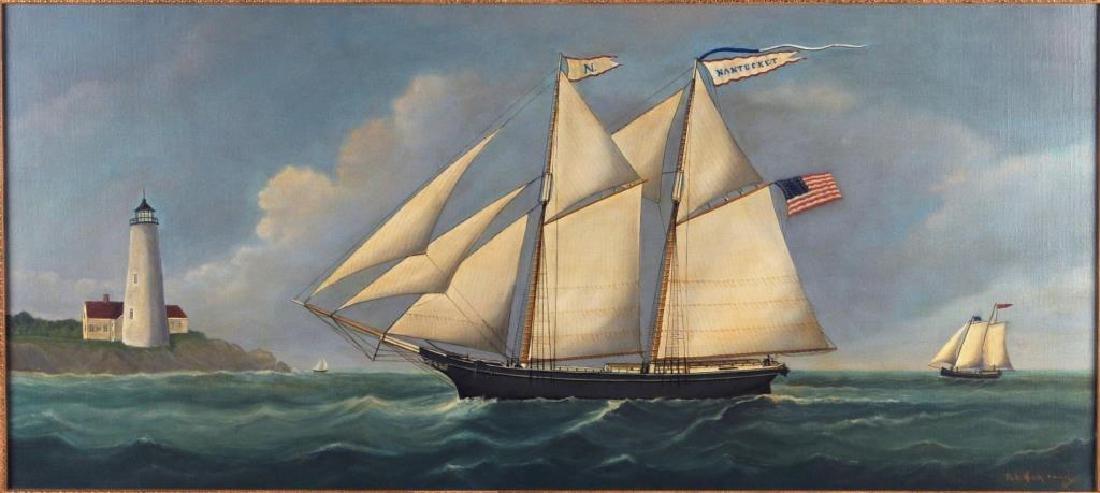 "Reginald E. Nickerson, ""Nantucket"" Nautical Scene - 3"