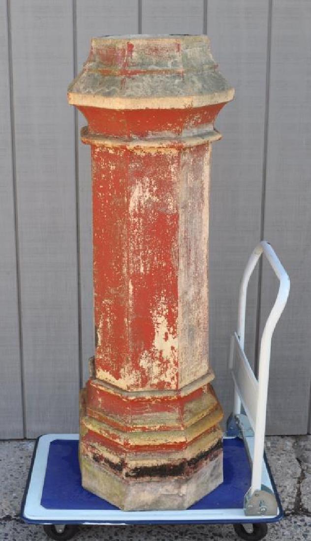 Victorian Octagonal Garnkirk Pottery Chimney Pot