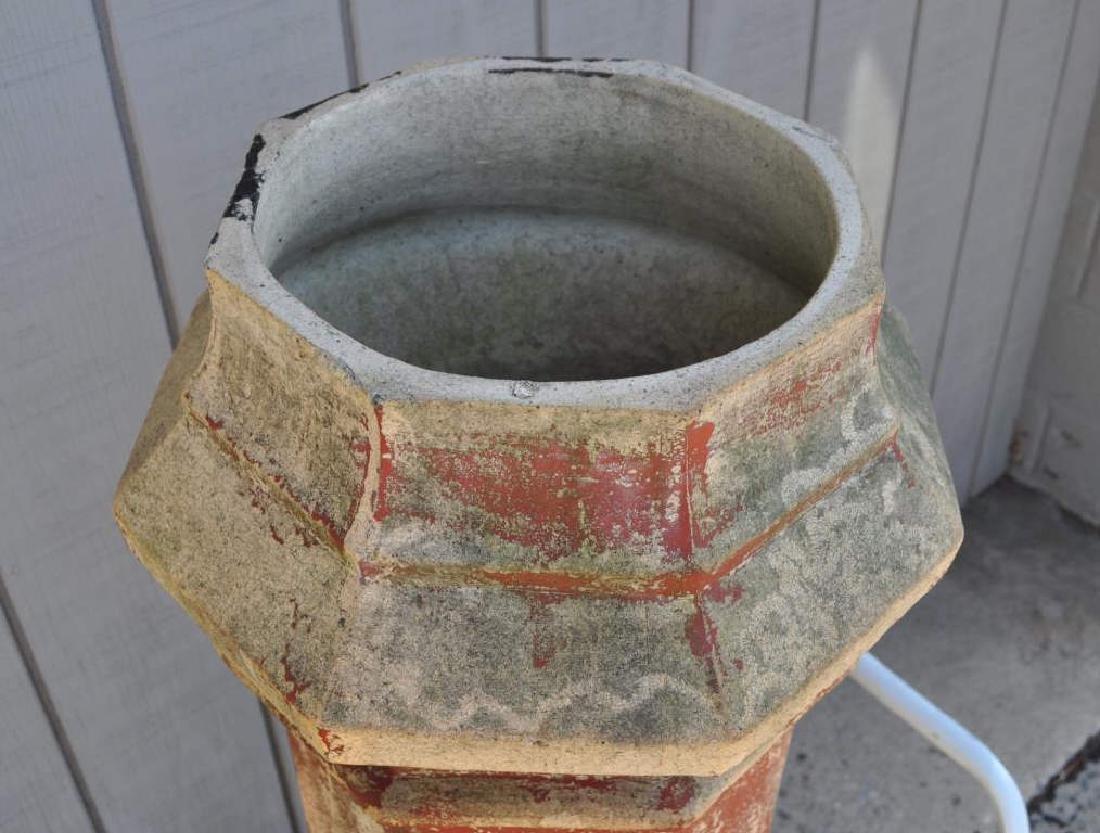 Victorian Octagonal Garnkirk Pottery Chimney Pot - 3