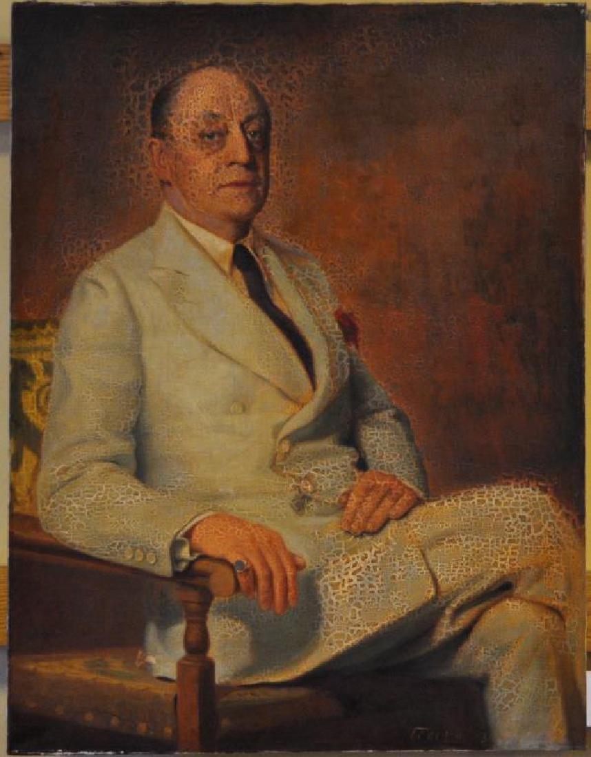 F.C. Von Hausen, Portrait Of Gentleman