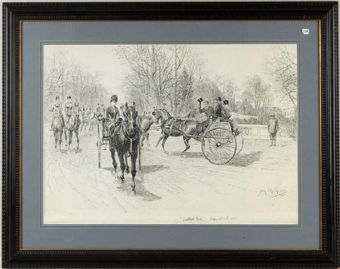 "Jan Van Chelminski ""Central Park"" Pen & Ink"