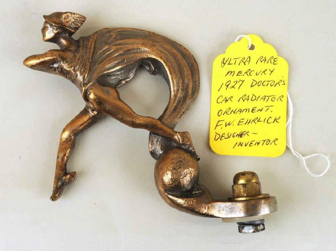 1927 Winged Mercury Radiator Ornament - 2