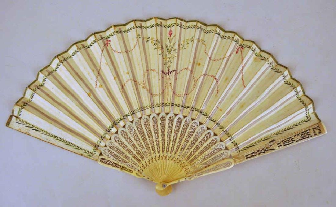 Harriet Beecher Stowe Family Att. Hand Painted Fan - 2