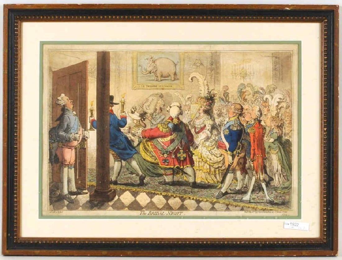 """James Gilray, Engraving """"The Bridal Night"""" 1797"""