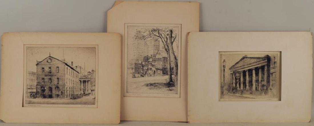 Henry J. Park, Three Etchings Providence, RI