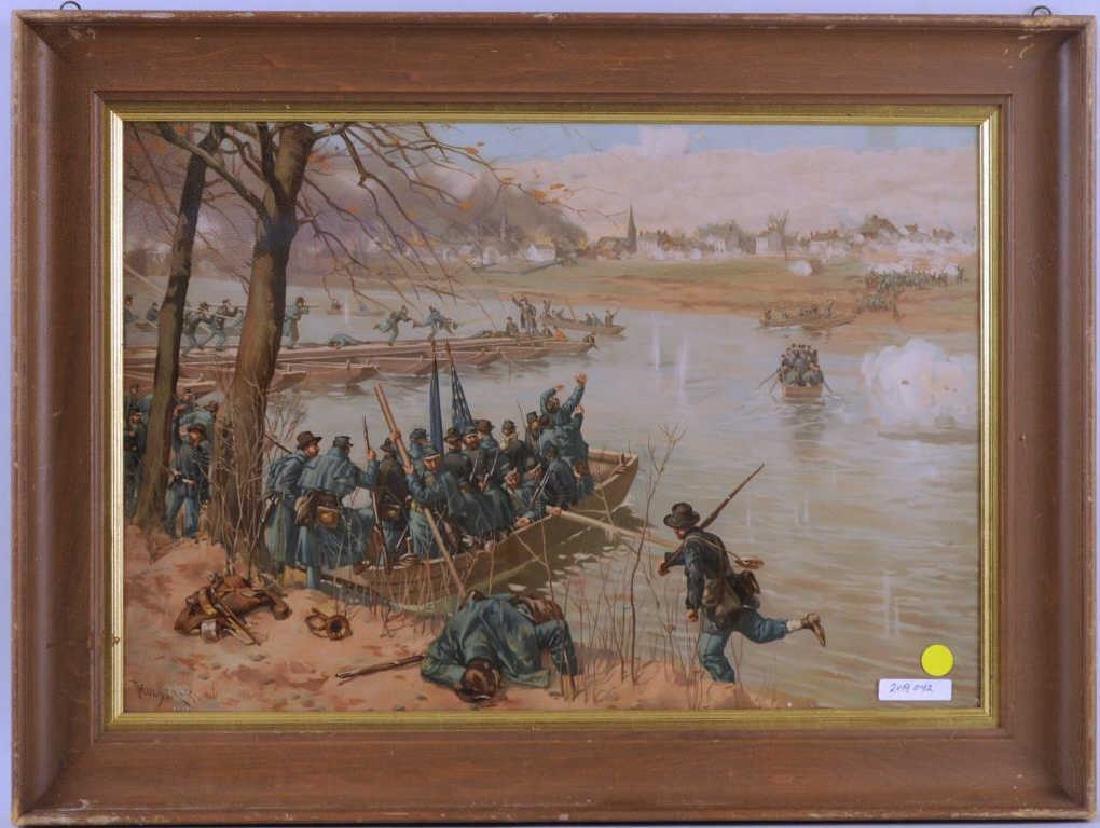 Lithograph Civil War Scene After Thulstrup