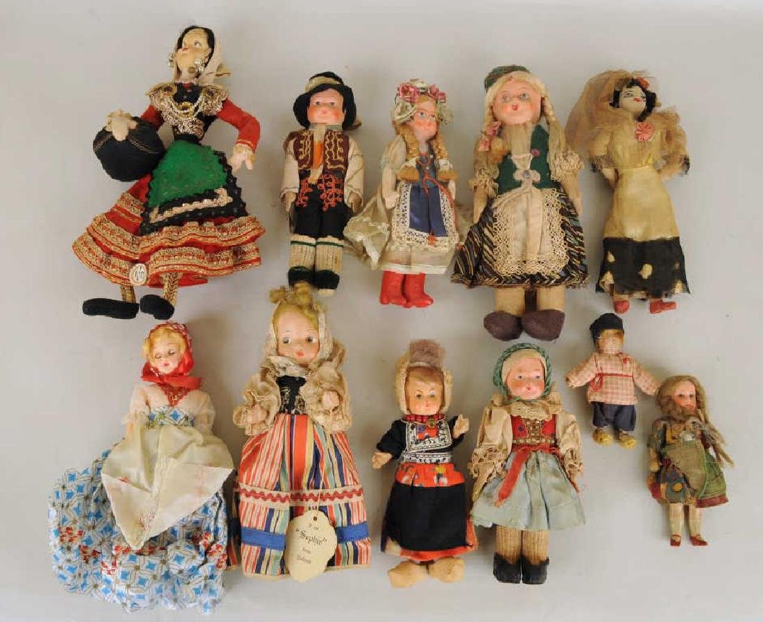 Group Eleven Small Ethnic Dolls