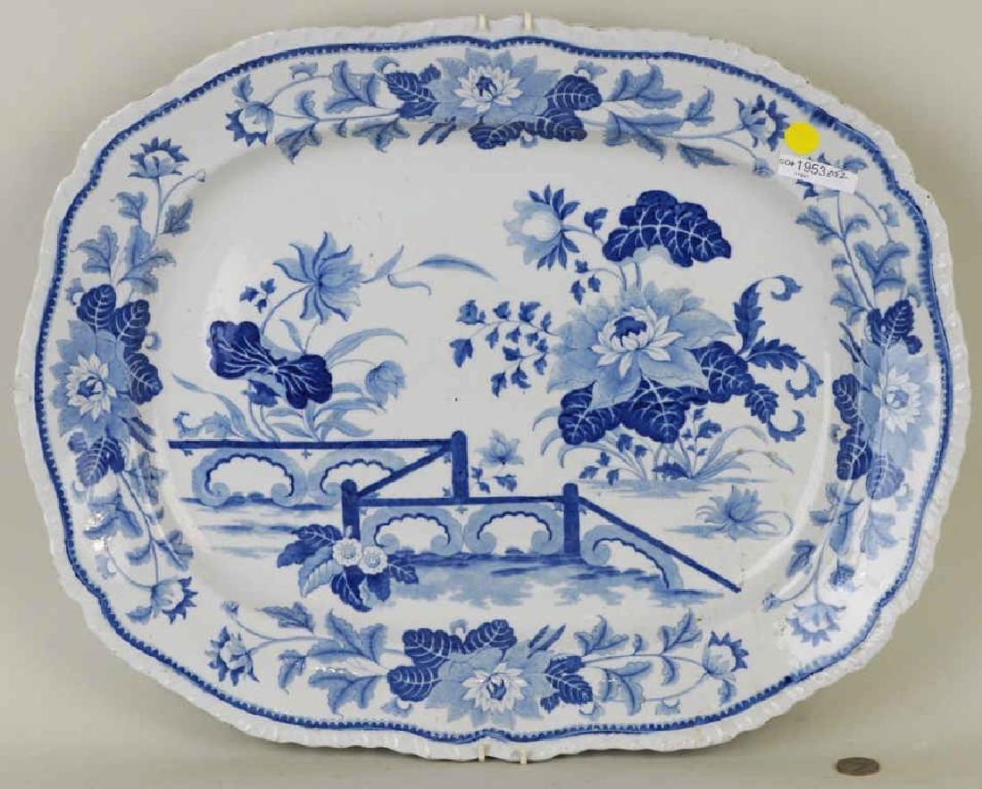 "English ""Stone China"" Blue And White Platter"