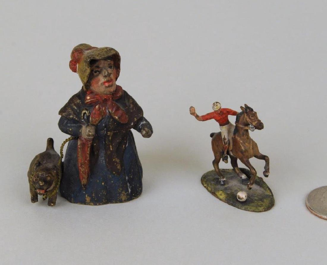 Two Small Cold Painted Bronze Items