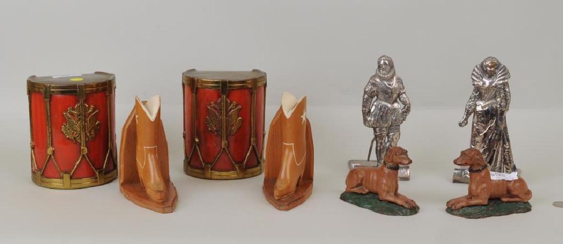 Four Pair Vintage Decorative Bookends