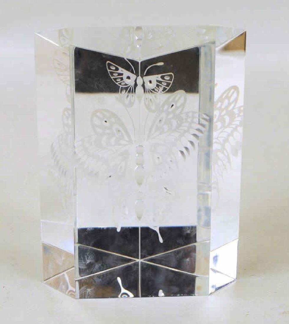 Steuben Crystal Butterfly Sculpture - 2
