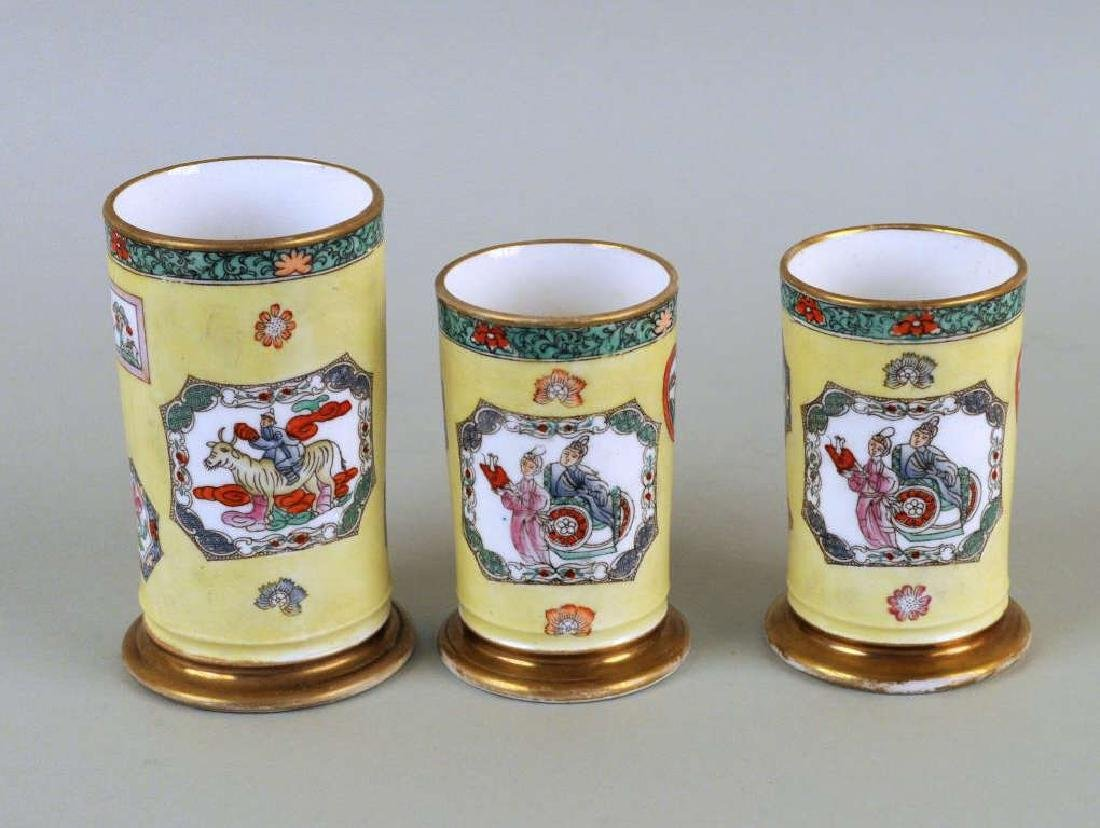 Three Piece Transferware Porcelain Garniture