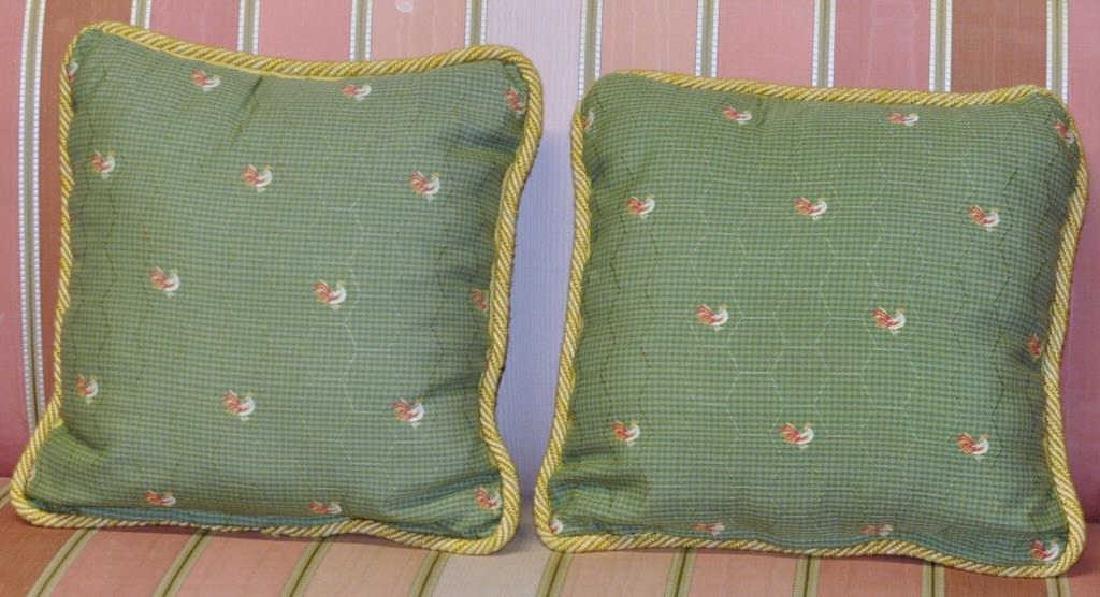 Four Embroidered Throw Pillows - 3