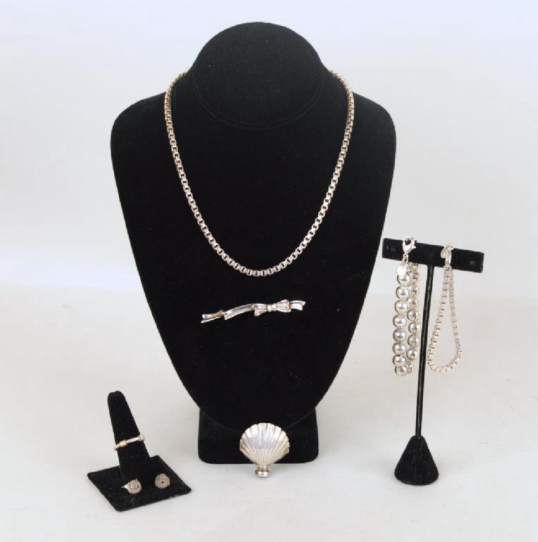 Group Seven Sterling Tiffany Jewelry Items