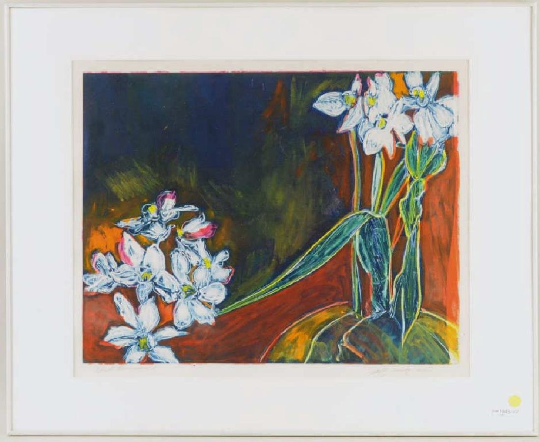 "Sally Brody ""Black Narcissus"" Monotype"
