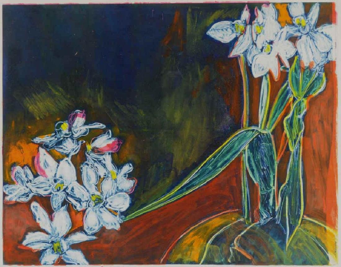 "Sally Brody ""Black Narcissus"" Monotype - 3"