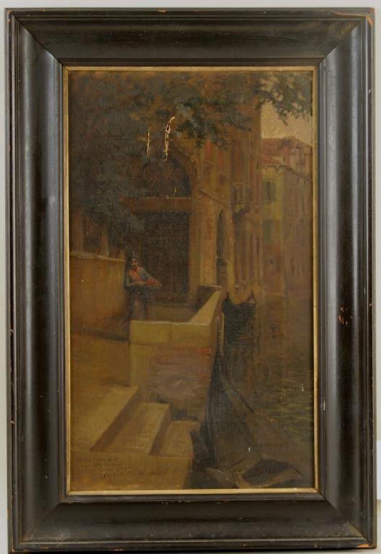 Herbert Faulkner O/C Scene Of Venice Canal