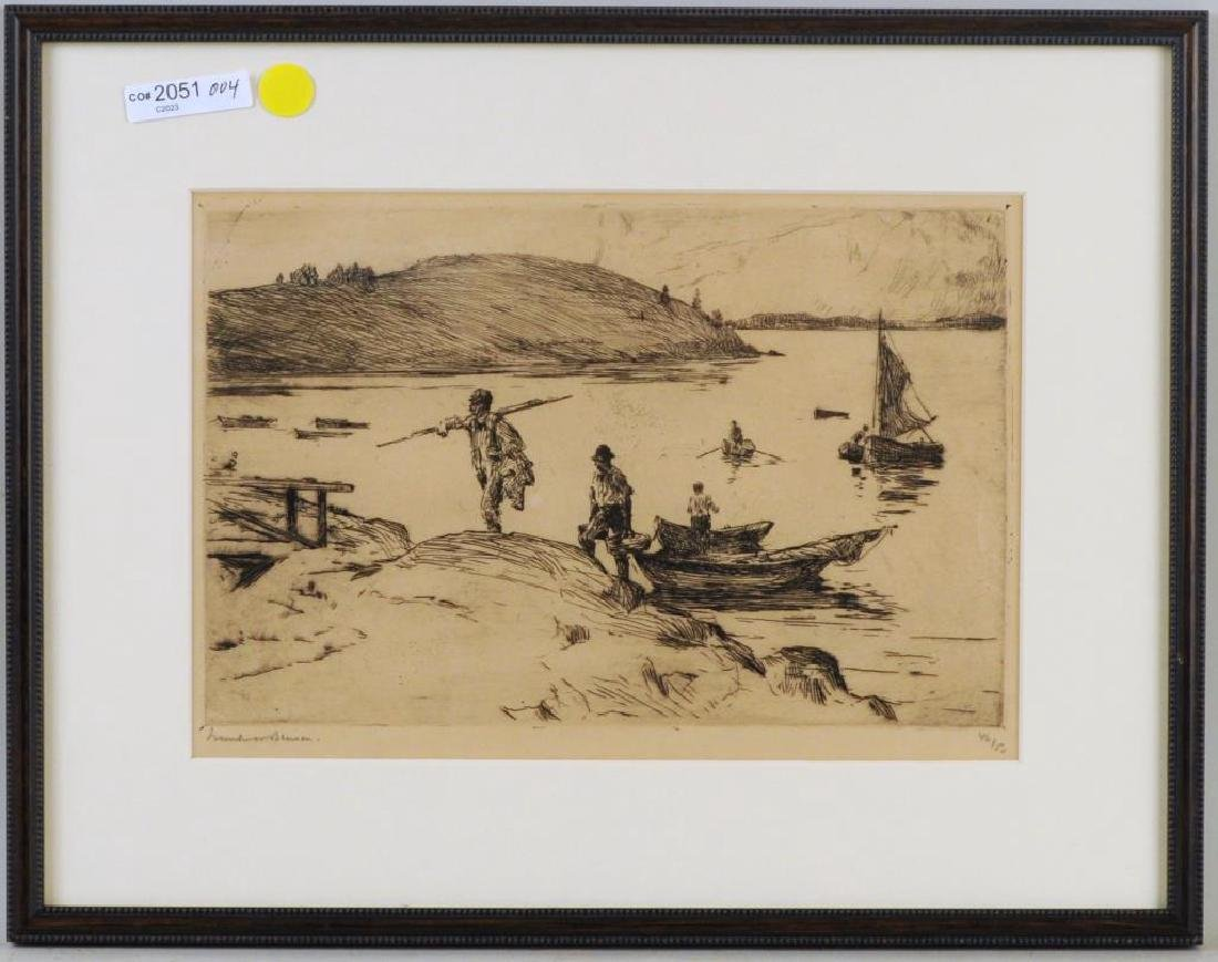 "Frank Benson Etching ""The Landing"""