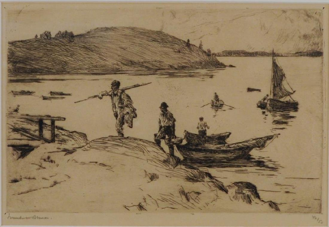 "Frank Benson Etching ""The Landing"" - 3"