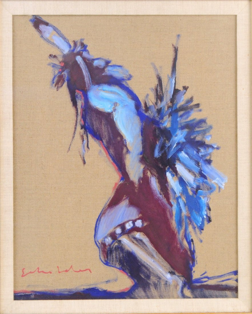 Fritz Scholder Oil/Linen Of A Native Dancer