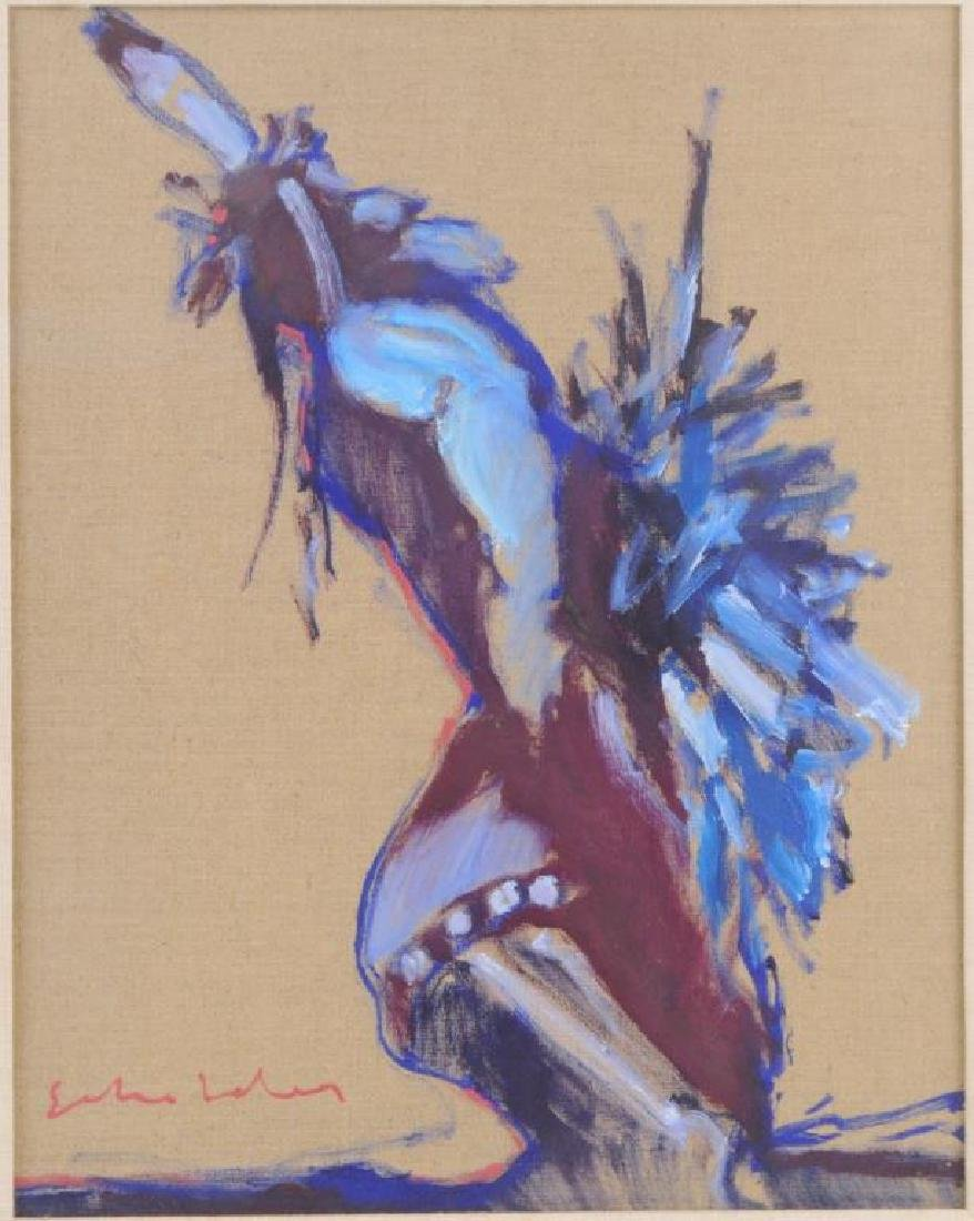 Fritz Scholder Oil/Linen Of A Native Dancer - 3