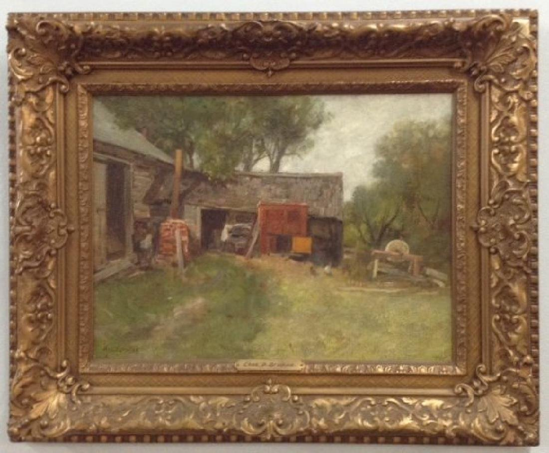 """Charles Paul Gruppe, """"The Barnyard Old Lyme CT"""""""
