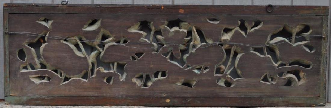 Large Chinese Carved & Polychromed Wood Panel - 2