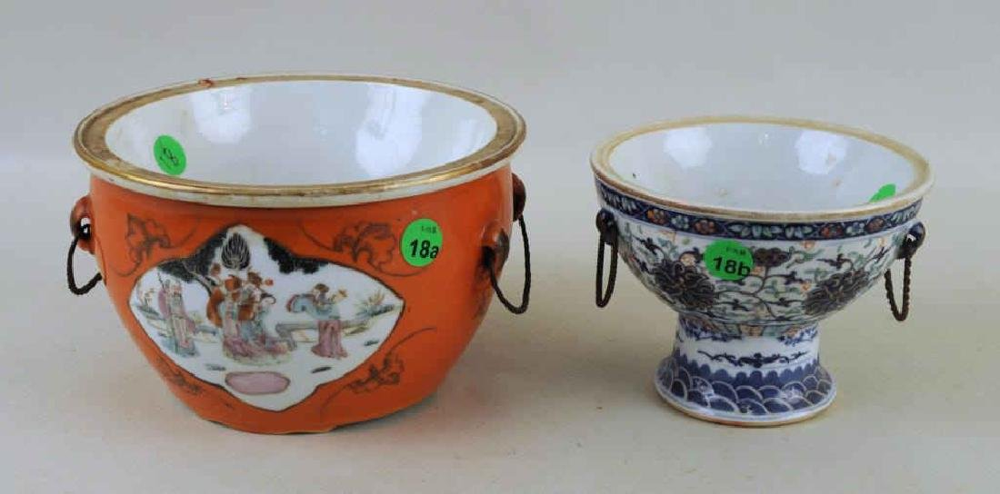Two Chinese Porcelain Warming Dishes/Tureens - 2