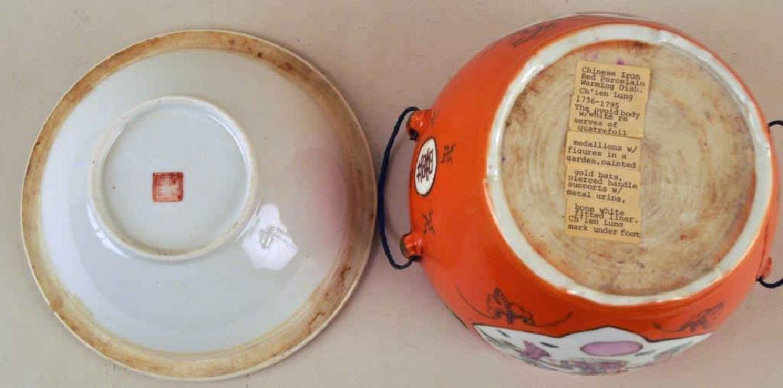 Two Chinese Porcelain Warming Dishes/Tureens - 4