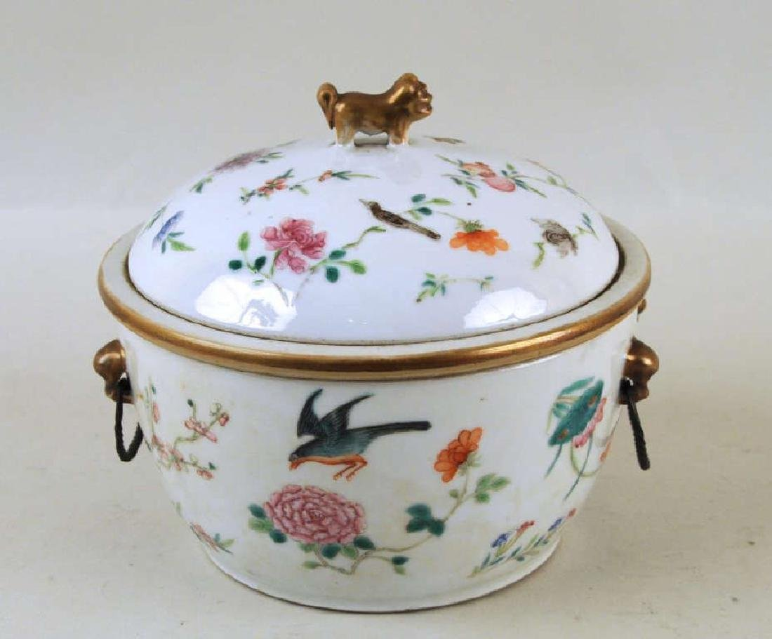 Chinese Porcelain Warming Dish/Tureen with Cover