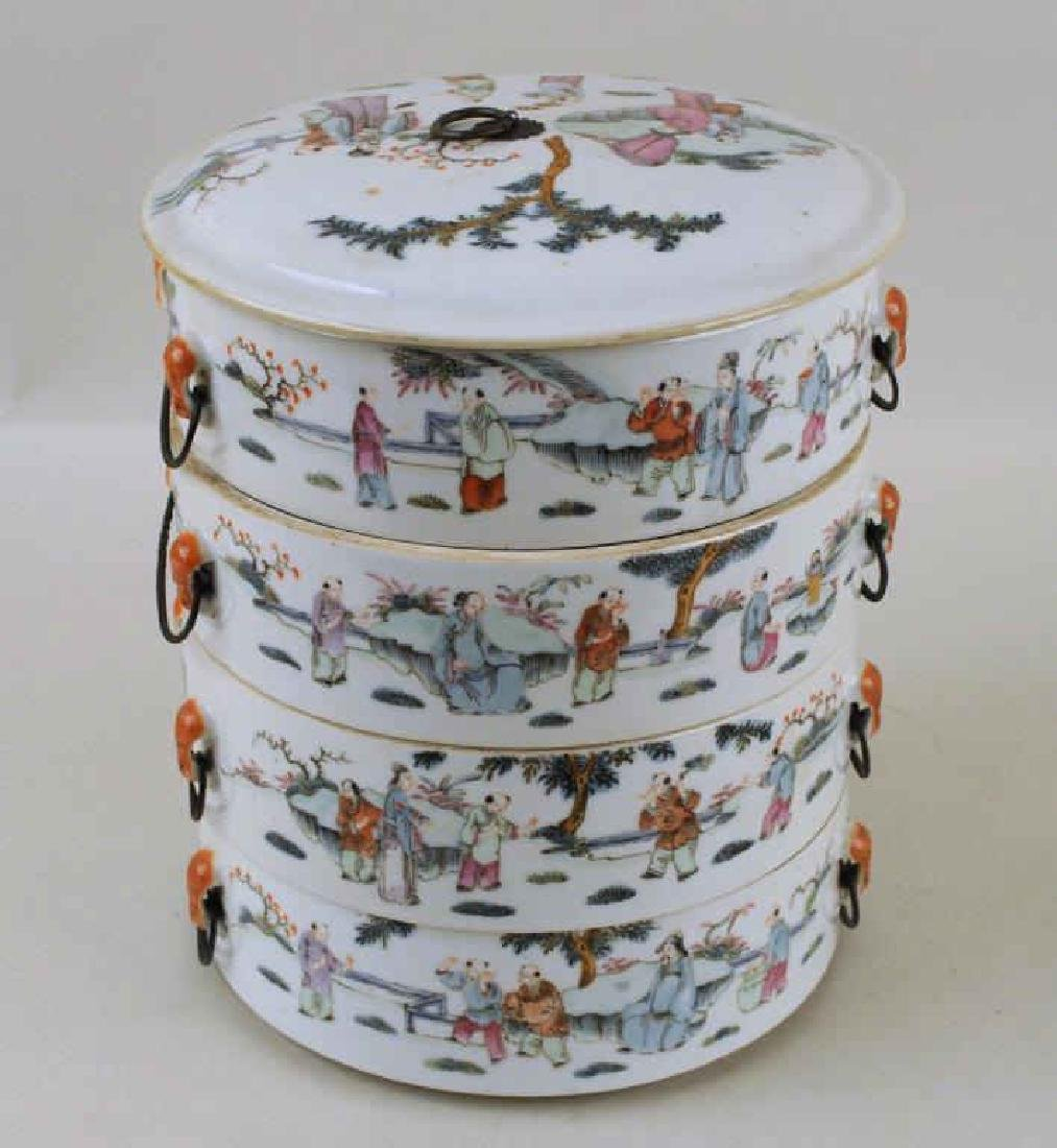 Chinese Porcelain Four-Tier Food Container - 2
